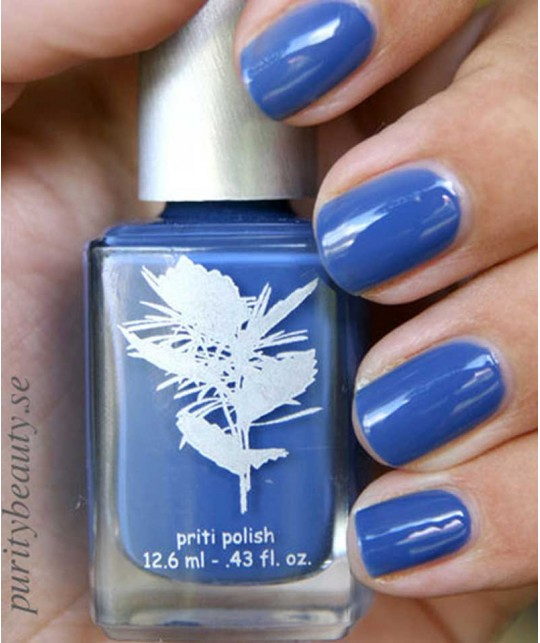 Priti NYC - Vernis Naturel non-toxique Californian Bluebell bleu swatch