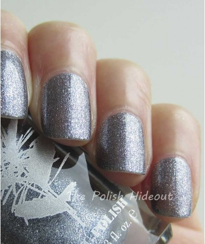 PRITI NYC Nail Polish 594 Pewter Veil swatch