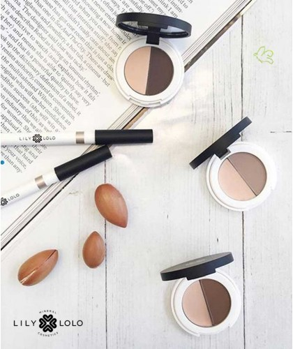 Lily Lolo - Eyebrow Duo swatch mineral cosmetics natural beauty swatch