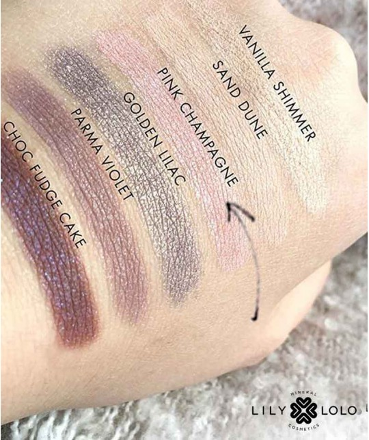 Lily Lolo Mineral Eye Shadow Pink Champagne swatch