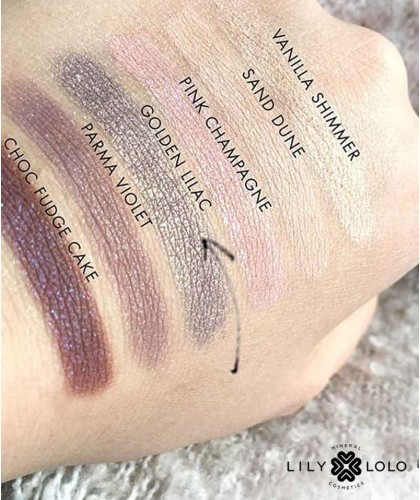 Lidschatten Mineral Eye Shadow Golden Lilac Lily Lolo swatch