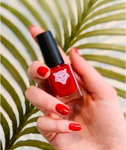 ALL TIGERS - Nail Lacquer natural & vegan RED 298 clean green beauty made in France