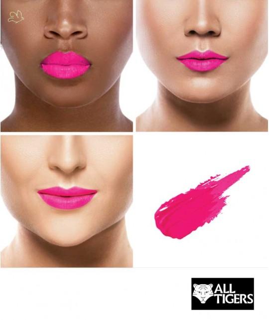 Liquid Lipstick ALL TIGERS matte natural vegan FUCHSIA 786 swatch organic beauty l'Officina Paris