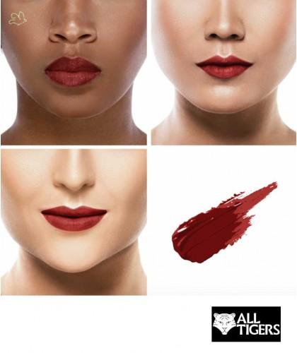 ALL TIGERS Liquid Lipstick matte BROWN RED 889 natural vegan organic beauty l'Officina Paris