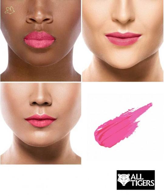 Liquid Lipstick ALL TIGERS matte natural vegan INTENSE PINK 793 swatch organic beauty l'Officina Paris