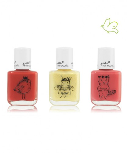Kid Safe Nail Polish Petite Manucurist Box of 3  LUCETTE  - PIA - KIKI Made in France