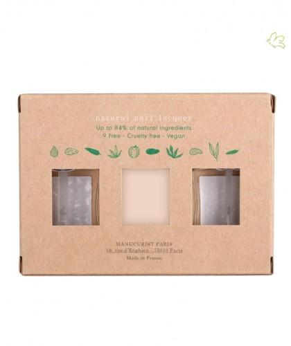 Nude Nail Polish GREEN Manucurist Box Green Three Steps natural beauty vegan