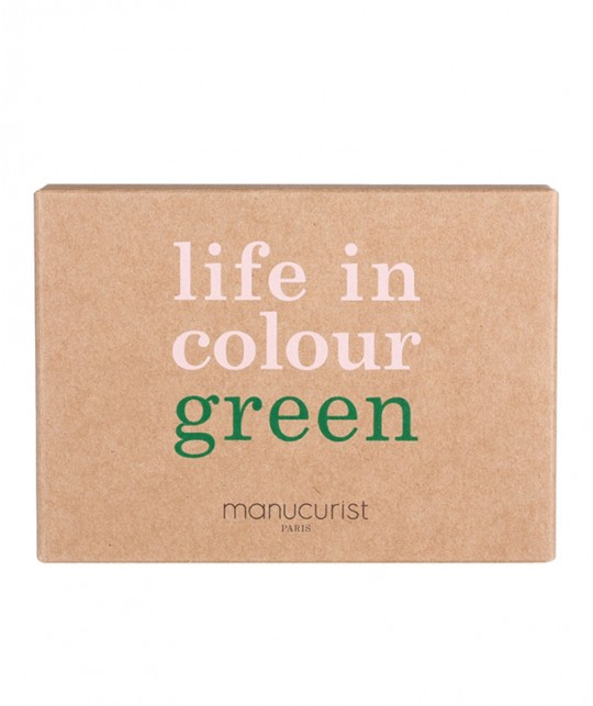 Vernis Poppy Red Green Manucurist Coffret Three Steps vegan non toxique naturel Rouge coquelicot