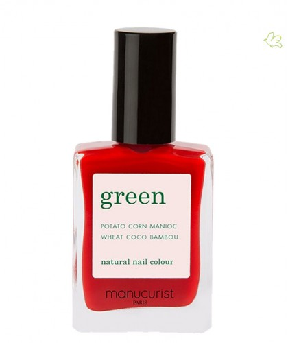 Manucurist Nail Polish GREEN Poppy Red natural color vegan