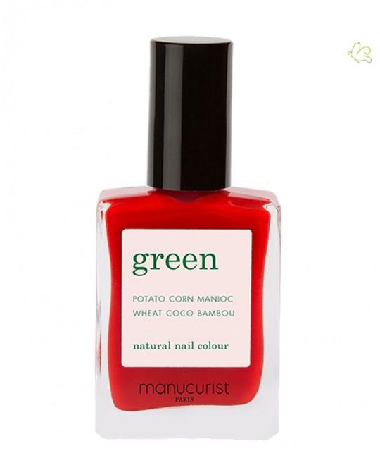 Vernis Poppy Red Green Manucurist Coffret Three Steps vegan non toxique naturel rouge