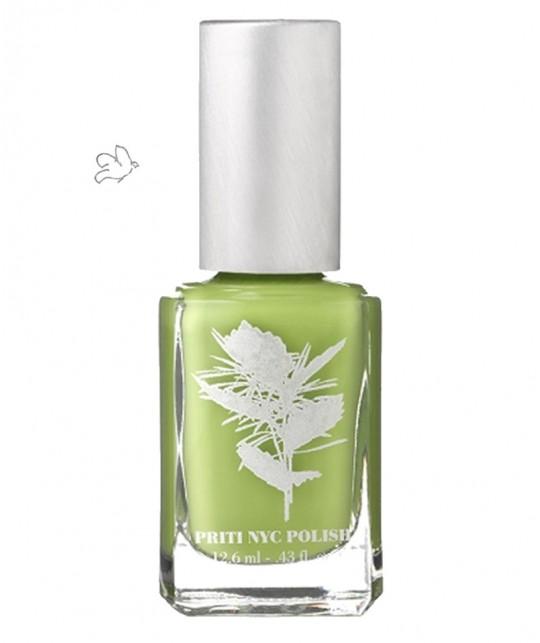 Priti NYC Nail Polish 504 Stonecrop non toxic vegan green
