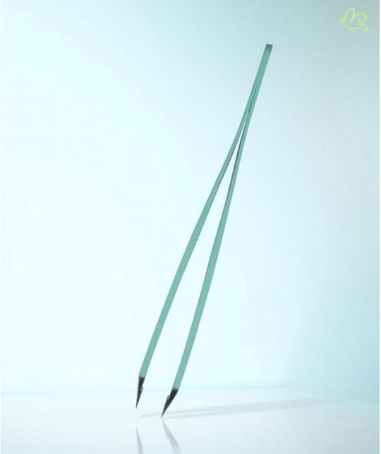 Pince à Épiler RUBIS Switzerland Classic mors biais - Turquoise Vert clair sourcils beauté cosmétique
