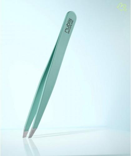 RUBIS Switzerland Tweezers Classic Slanted tips - Dark Blue Green eyebrows cosmetics beauty