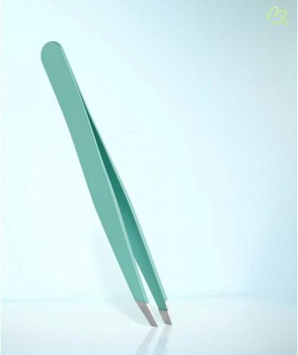 Pince à Épiler professionnelle RUBIS Switzerland Classic mors biais - Tiffany Vert clair sourcils beauté cosmétique