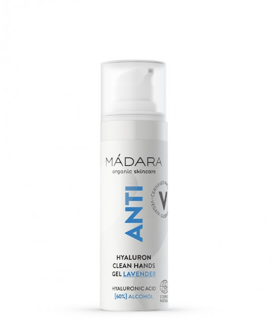 Madara Gel anti-bactérien hydratant Mains bio 30ml Acide hyaluronique mini ANTI