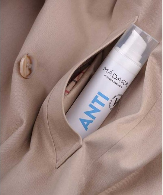 Madara Gel anti-bactérien hydratant Mains bio 50ml Acide hyaluronique mini ANTI