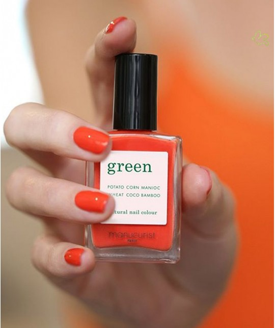 Manucurist Nail Polish GREEN Coral Reef swatch