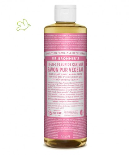 Dr. Bronner's - Liquid Soap Cherry Blossom Organic vegan 475ml - 16 oz.