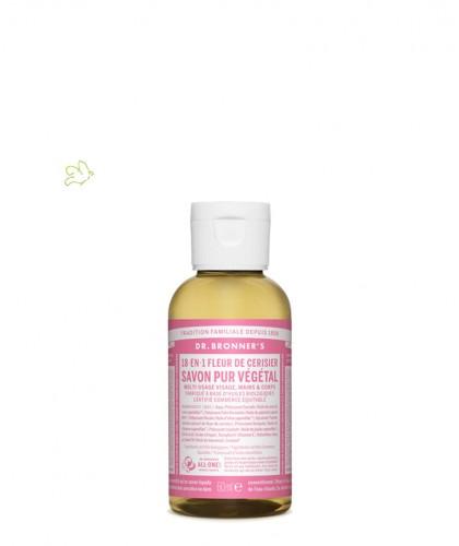 Dr. Bronner's - Savon Liquide bio Pur Végétal Fleur de Cerisier flacon mini voyage 60ml