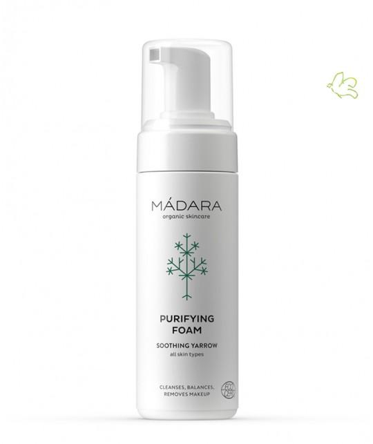 MADARA cosmétique Mousse Nettoyante Purifiante bio organic cosmetics vegan certifié acné peau grasse