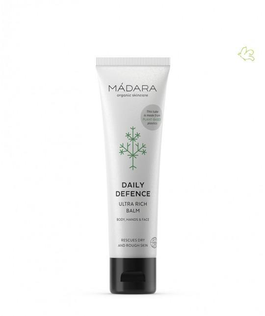 MADARA cosmétique bio Baume naturel Ultra Riche Daily Defence Creme tube DD nourrissant hydratant visage peau sensible mains