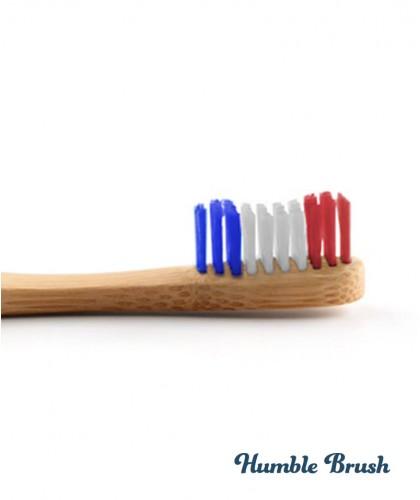 Humble Brush Bambus Zahnbürste Erwachsene - Vive la France umweltfreundlich Vegan bleu blanc rouge