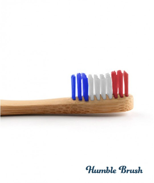 Brosse à Dents en Bambou Humble Brush - Vive la France Bleu Blanc Rouge Vegan