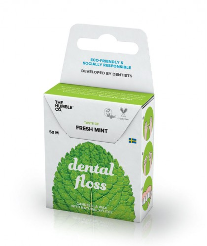 The Humble Co. Dental floss - Fresh mint Humble brush vegan eco friendly