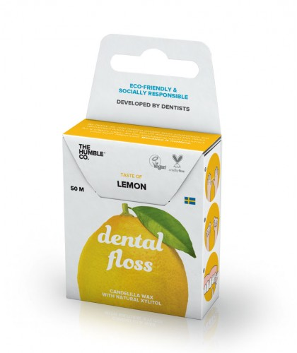 The Humble Co. Dental floss - Lemon Humble brush vegan eco friendly