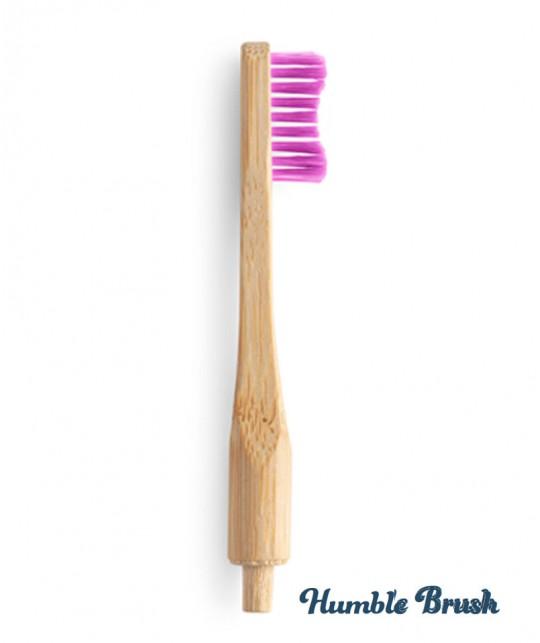 Brosse à Dents en Bambou Humble Brush Tête interchangeable zero déchet compostable biodegradable écologique  rose