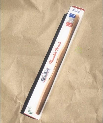 Bambus Zahnbürste Humble Brush Soft - Vive la France umweltfreundlich Vegan bleu blanc rouge