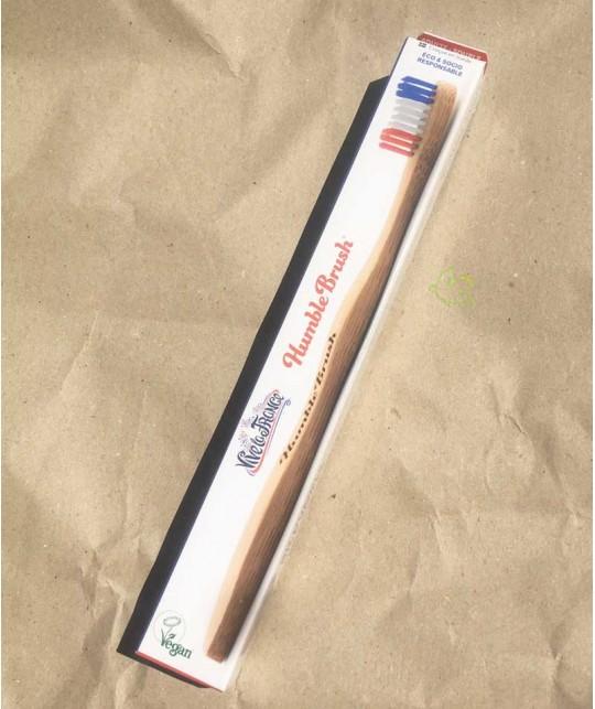 Brosse à Dents en Bambou Humble Brush Soft - Vive la France Bleu Blanc Rouge Vegan