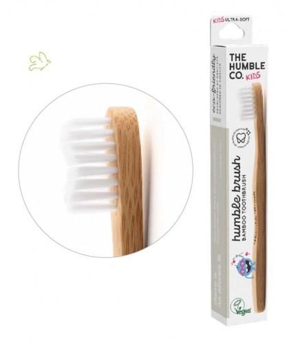 Bamboo Toothbrush Humble Brush Kids - white ultra soft bristles Vegan recyclable