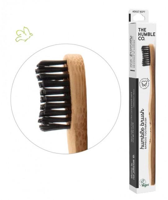 Bamboo Toothbrush Humble Brush Adult - black Soft Nylon bristles Vegan