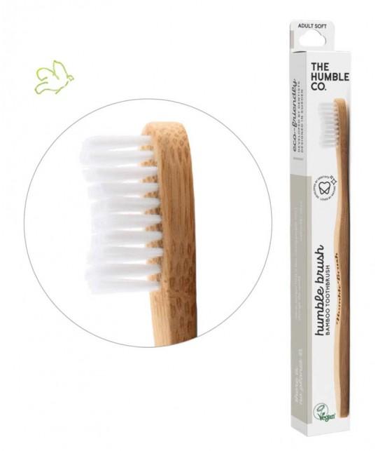Brosse à Dents en Bambou Humble Brush Adulte - blanc poils souples Vegan Cruelty free