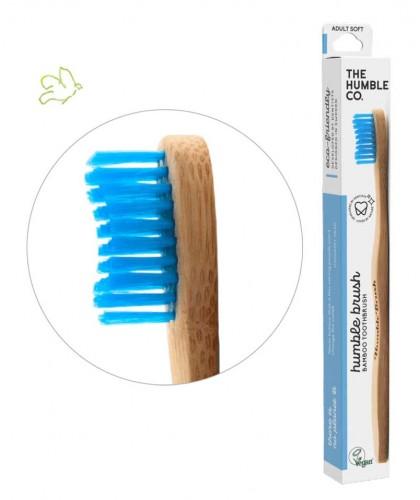 Bamboo Toothbrush Humble Brush Adult - blue Soft Nylon bristles Vegan sustainable no waste