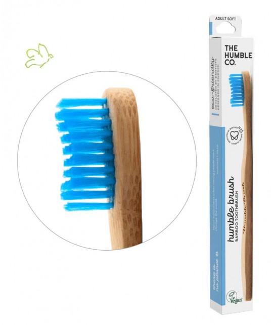 Bambus Zahnbürste Humble Brush Umweltfreundlich Weiche Borsten Vegan cruelty free blau nachhaltig kompostierbar