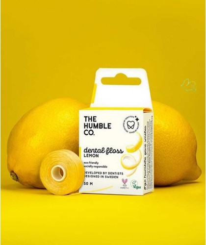 Humble Brush Fil dentaire écologique - Citron Vegan recyclable compostable