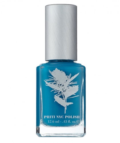 Priti NYC Nail Polish 656 Blue Wedgewood Natural green clean