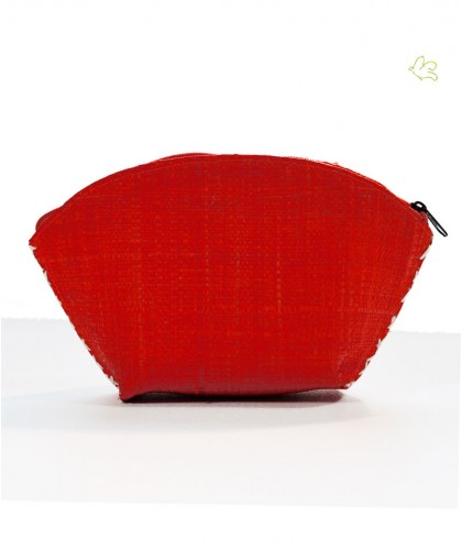 l'Officina Paris Raffia Pouch coral red gipsy trendy cosmetic bag coral red
