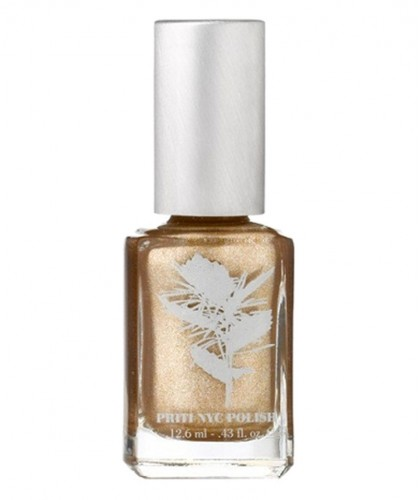 Priti NYC Nagellack 681 Chrysanthos Gold Ökolack Metallic schimmernd Vegan Clean beauty