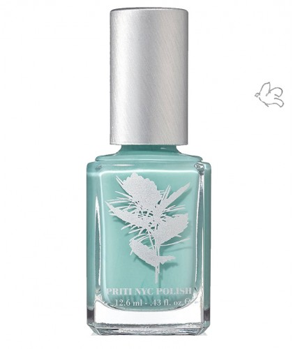 Priti NYC Natural Nail Polish 645 Bluster mint blue vegan clean beauty