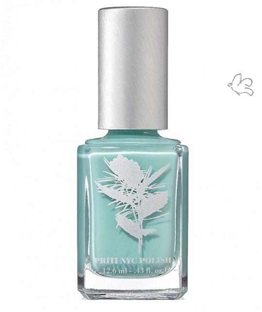 Priti NYC Natural Nail Polish 645 Bluster mint blue vegan clean beauty