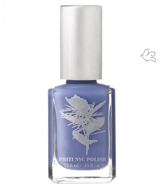 Priti NYC Nagellack 498 Day Flower vegan Blau Flieder Ökolack Green beauty