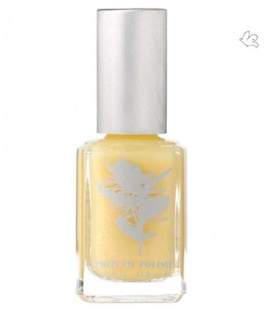 Priti NYC Natural Nail Polish 437 Mermaid Rose yellow pastel vegan green beauty