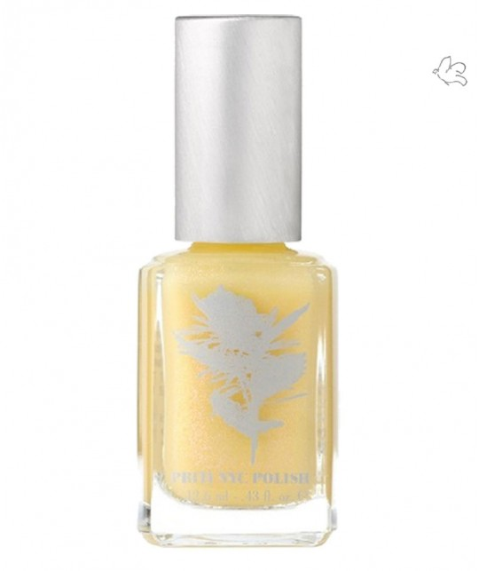 Priti NYC - Vernis naturel  Mermaid Rose jaune pastel pailleté green beauty vegan