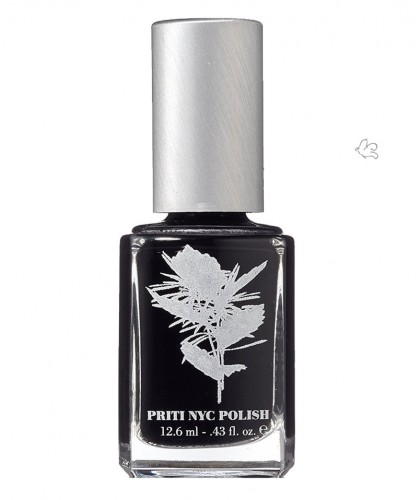 Priti NYC Nagellack 603 Nigra schwarz vegan Ökolack green clean beauty