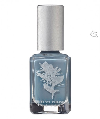Priti NYC Nagellack 658 Moonstone Cactus Ökolack ungifted vegan green clean beauty Blau Grau