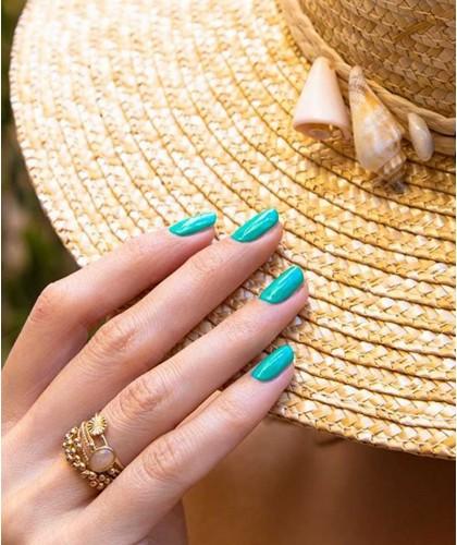 Manucurist Paris - Vernis naturel GREEN Seagreen bleu pastel été