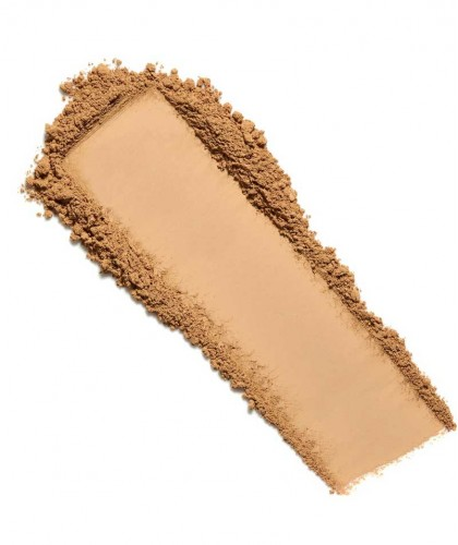 LILY LOLO Mineral-Puder Foundation SPF15 Hot Chocolate swatch Naturkosmetik l'Officina Paris